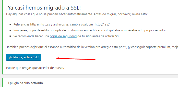 Activando SSL en WordPress