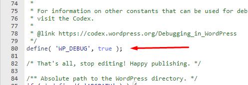 Debug habilitado wordpress