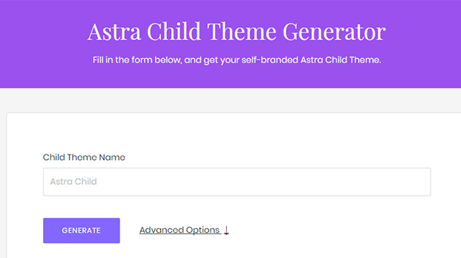 crea tu propio child theme astra en 1 minuto