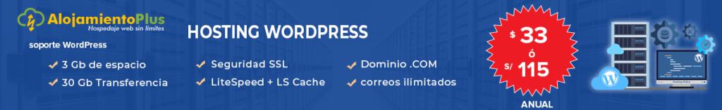 el mejor hosting wordpress en Perú AlojamientoPlus